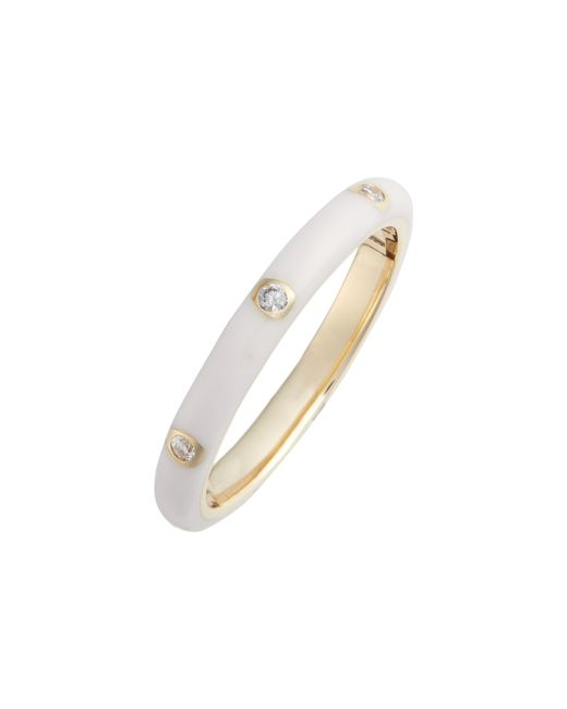 EF Collection - Metallic Diamond Enamel Stacking Ring - Lyst
