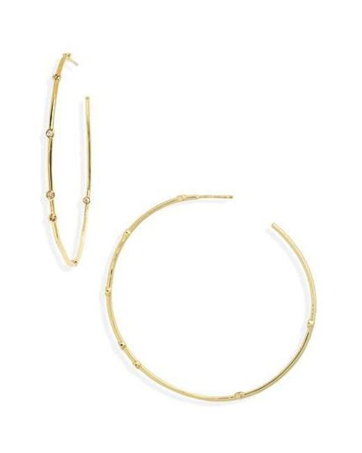 Melinda Maria | Metallic Inside Out Station Hoop Earrings | Lyst