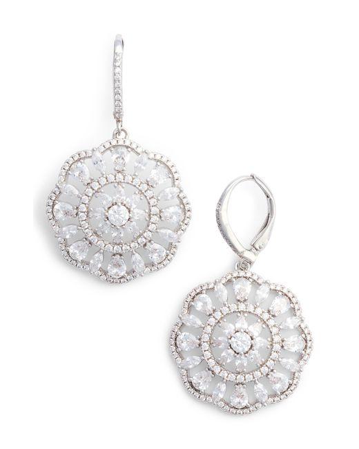 Nina - Metallic Sunburst Drop Earrings - Lyst