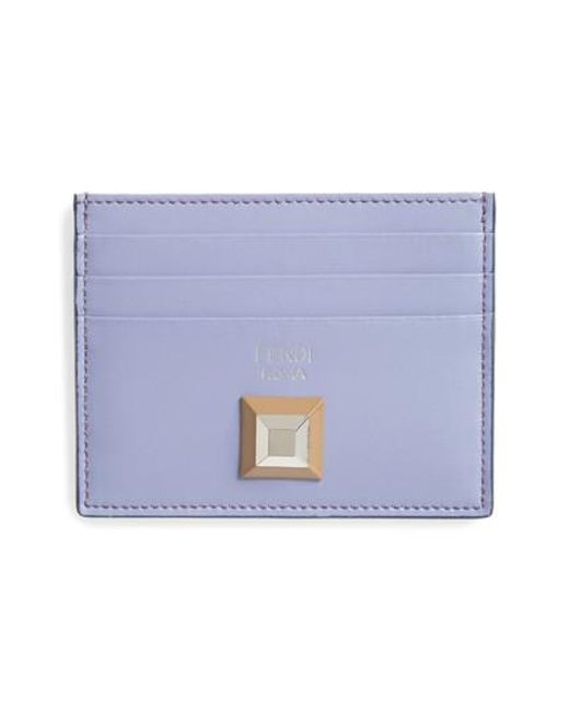 Fendi - Purple Rainbow Stud Leather Card Case - - Lyst