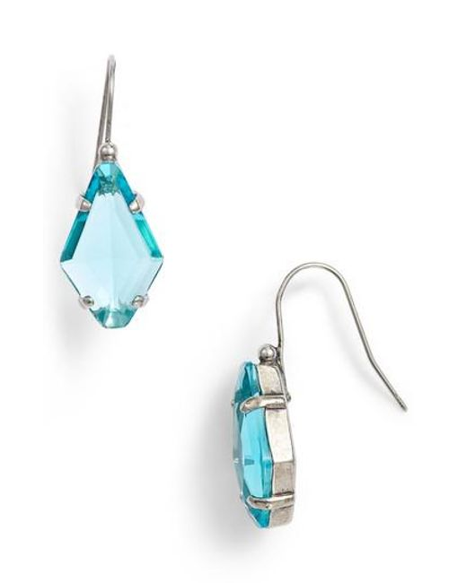 Sorrelli - Blue Crystal Drop Earrings - Lyst