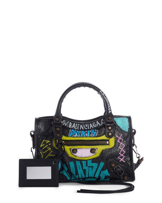 Balenciaga - Multicolor City Graffiti Leather Tote - Lyst