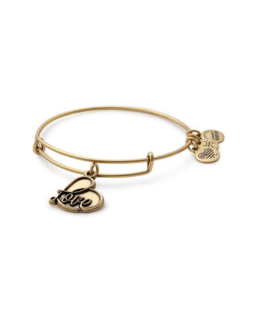 ALEX AND ANI - Metallic Love Expandable Charm Bracelet - Lyst