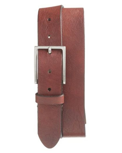 Bosca | Brown The Sicuro Leather Belt for Men | Lyst
