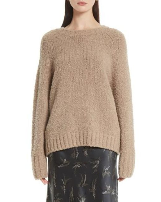 Vince | Natural Saddle Sleeve Wool Sweater | Lyst