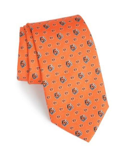 Vineyard Vines | Orange 'cincinnati Bengals - Nfl' Woven Silk Tie for Men | Lyst