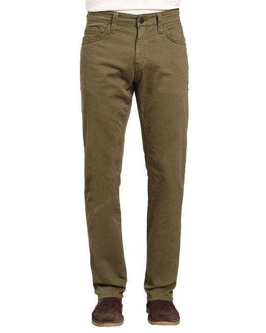 Mavi Jeans - Green Zach Straight Fit Twill Pants for Men - Lyst