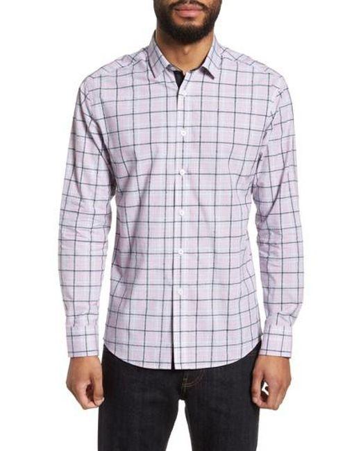 Vince Camuto - Multicolor Slim Fit Boucle Plaid Sport Shirt for Men - Lyst
