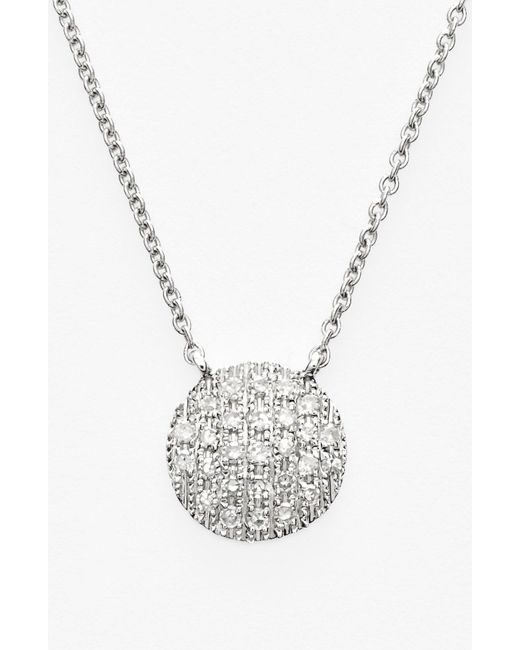 Dana Rebecca - Metallic 'lauren Joy' Diamond Disc Pendant Necklace - Lyst