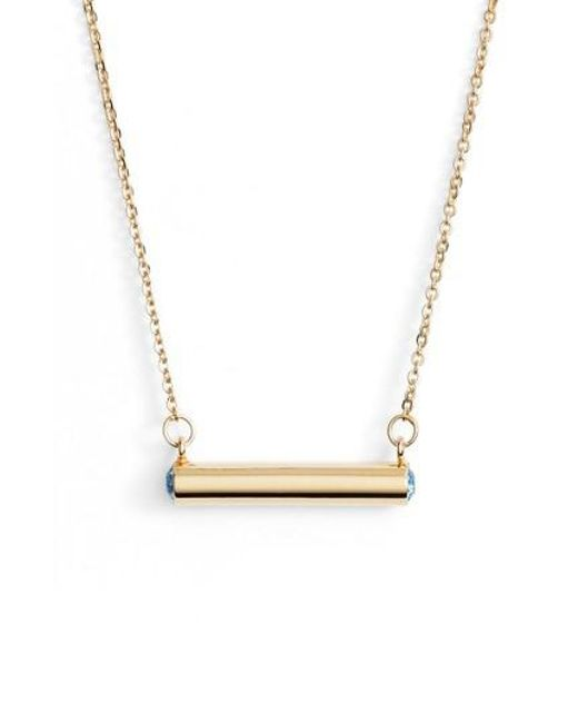 Stella Valle | Metallic Stella Vale February Crystal Bar Pendant Necklace | Lyst