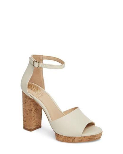 Vince Camuto - Metallic Ciestie Platform Sandal - Lyst