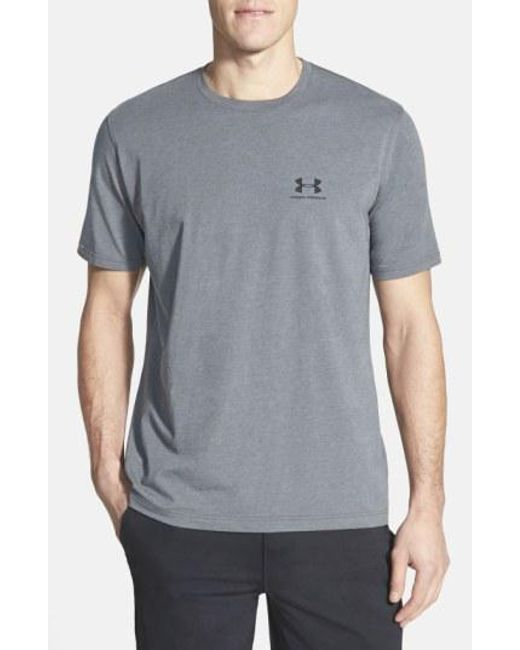 Under Armour - Black 'sportstyle' Charged Cotton Loose Fit Logo T-shirt for Men - Lyst