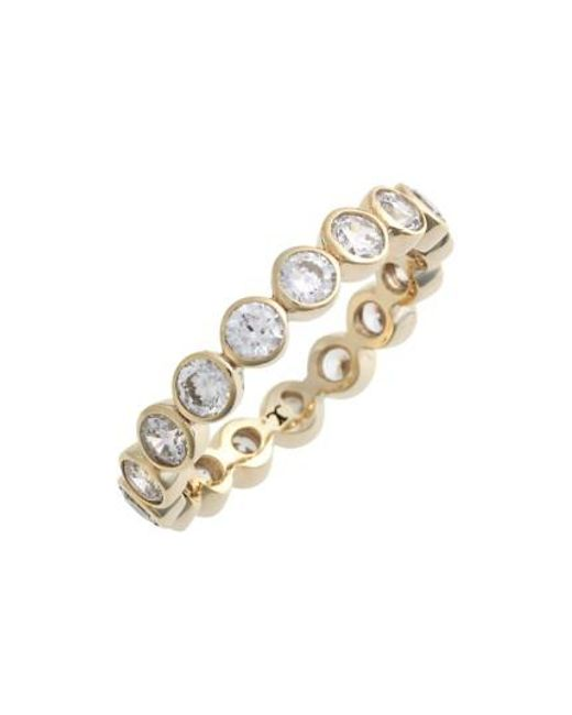 Judith Jack | Metallic Stackable Cubic Zirconia Bezel Ring | Lyst