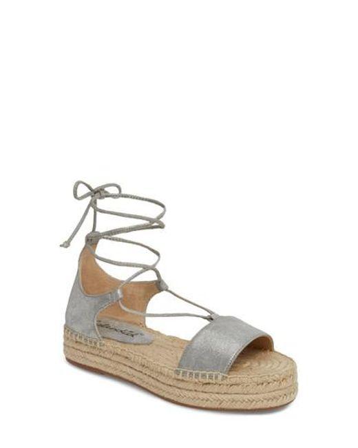 Splendid - Metallic Fernanda Wraparound Platform Sandal - Lyst