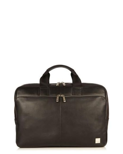 Knomo - Black Brompton Newberry Leather Briefcase for Men - Lyst