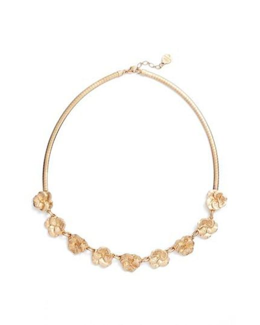 Gas Bijoux | Metallic Pansy Frontal Necklace | Lyst
