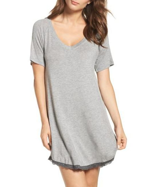 Honeydew Intimates | Gray Honeydew Ribbed Sleep Shirt | Lyst