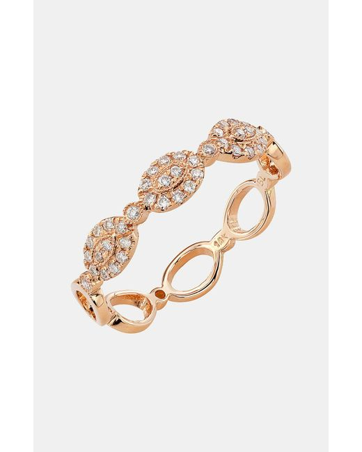 Bony Levy - Pink Oval Diamond Stackable Ring (nordstrom Exclusive) - Lyst