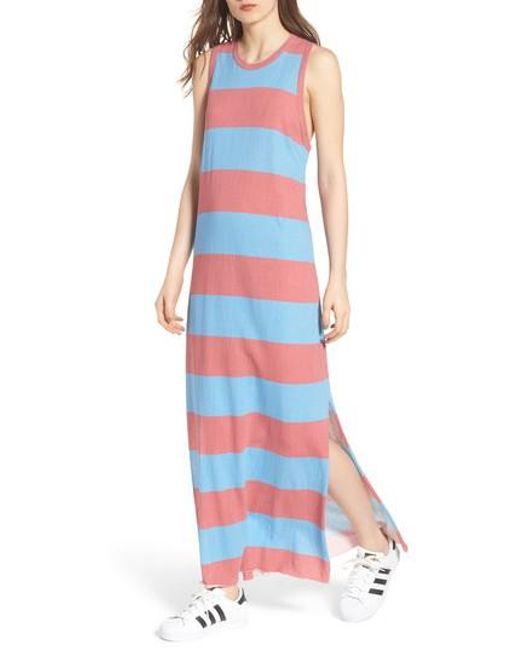 Frank & Eileen - Red Stripe Muscle Maxi Dress - Lyst