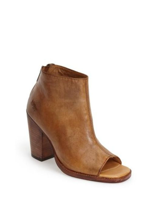 Bed Stu | Brown 'onset' Peep Toe Bootie | Lyst