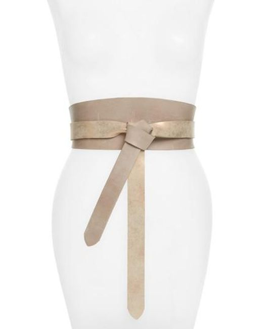 Ada   Natural Handmade Double Sided Leather Wrap Belt   Lyst