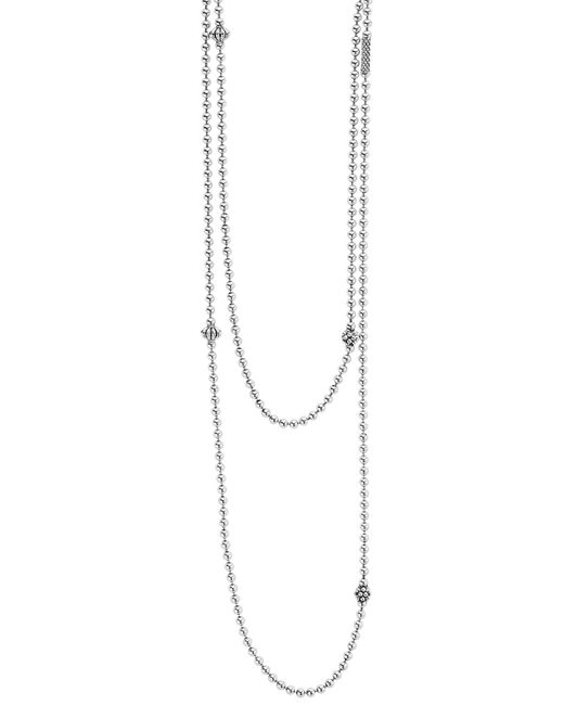 Lagos - Metallic 'caviar Icon' Strand Necklace - Lyst