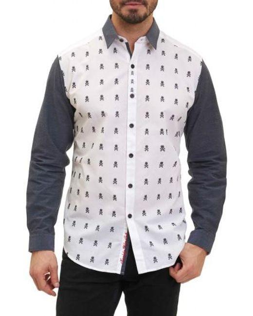 Robert Graham | White Socal Print Sport Shirt for Men | Lyst