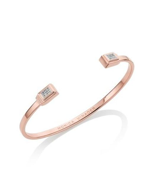 Monica Vinader | Metallic Baja Deco Diamond Cuff | Lyst