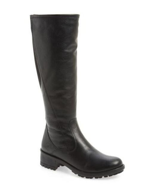 Santana Canada   Black Water-Resistant Leather Riding Boots    Lyst
