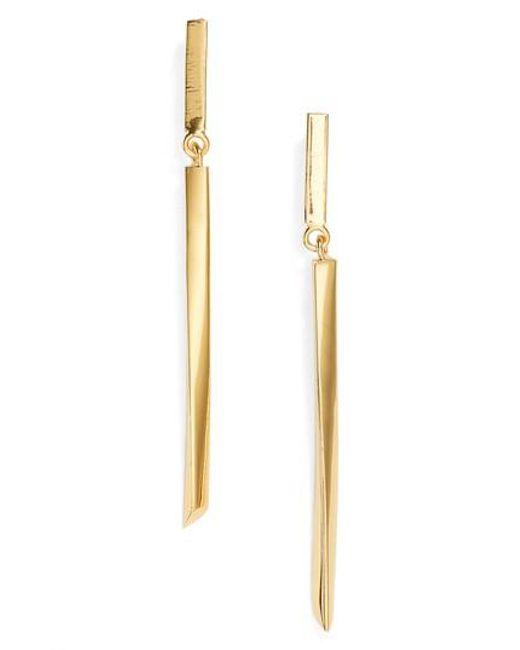Argento Vivo - Metallic Linear Drop Earrings - Lyst