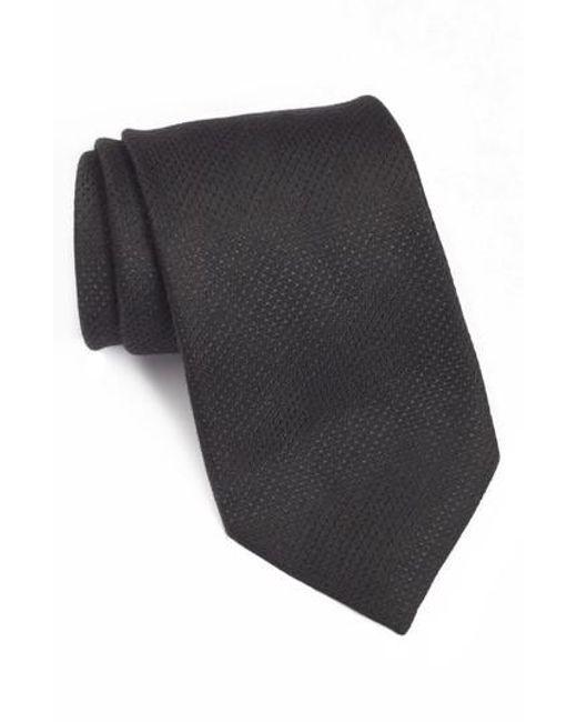 John Varvatos | Black Solid Tie for Men | Lyst