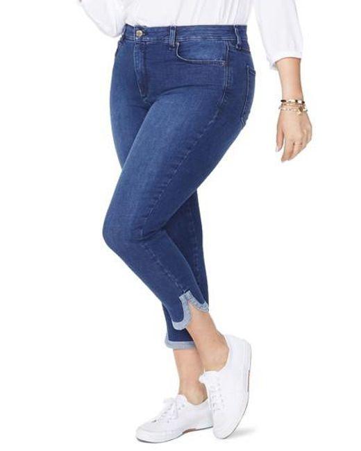 NYDJ - Blue Ami Dolphin Hem Stretch Ankle Skinny Jeans - Lyst