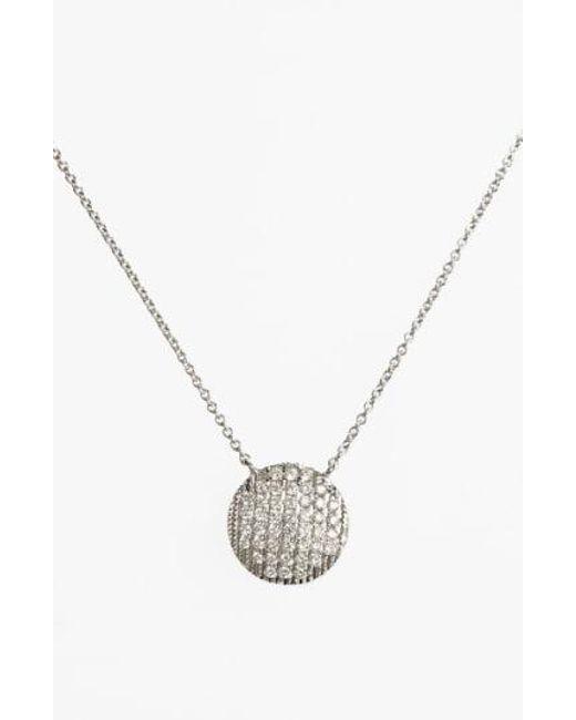 Dana Rebecca - Metallic 'lauren Joy' Diamond Disc Pendant Necklace - Lyst