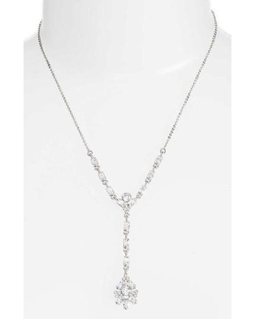 CZ by Kenneth Jay Lane | Metallic Y-necklace | Lyst