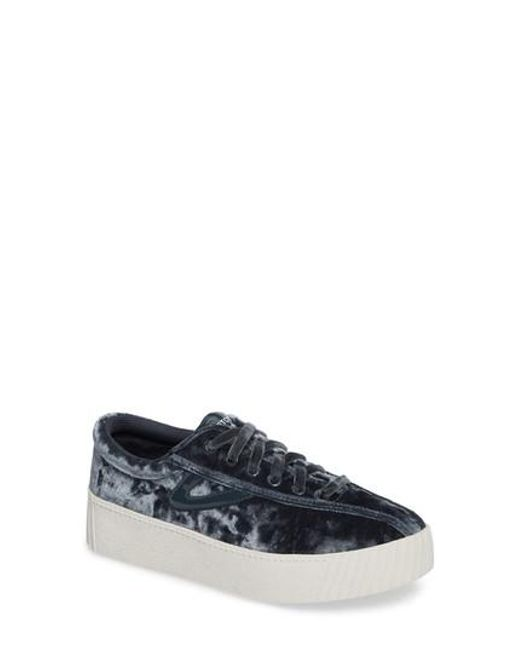 Tretorn | Gray Bold Perforated Platform Sneaker | Lyst