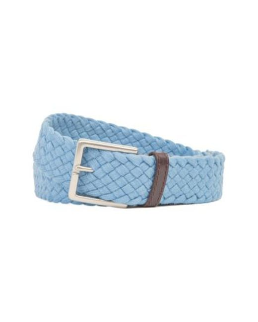 Tommy Bahama - Blue Braided Cotton Belt for Men - Lyst