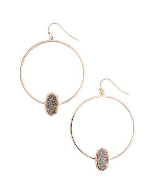 Kendra Scott | Metallic Elora Frontal Hoop Earrings | Lyst