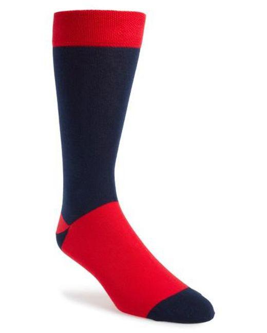 Ted Baker - Red Colorblock Socks for Men - Lyst