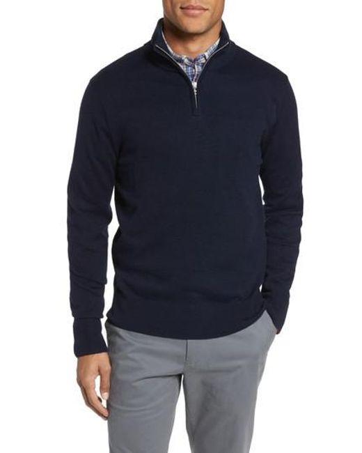 Bonobos Cotton & Cashmere Quarter Zip Sweater for Men | Lyst