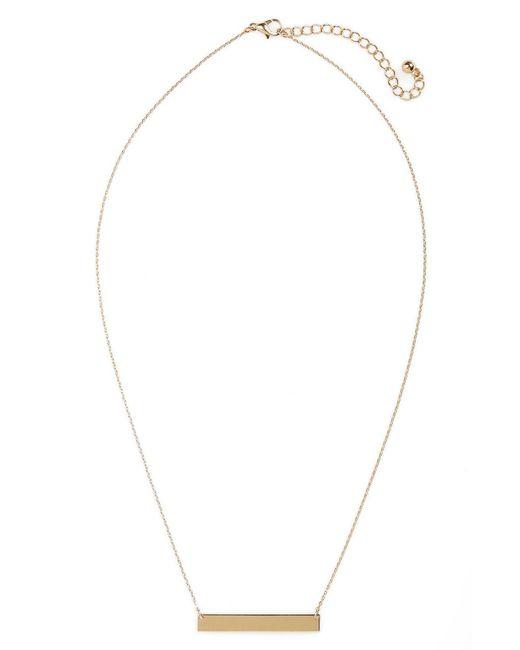 BP. - Metallic Bar Charm Necklace - Lyst