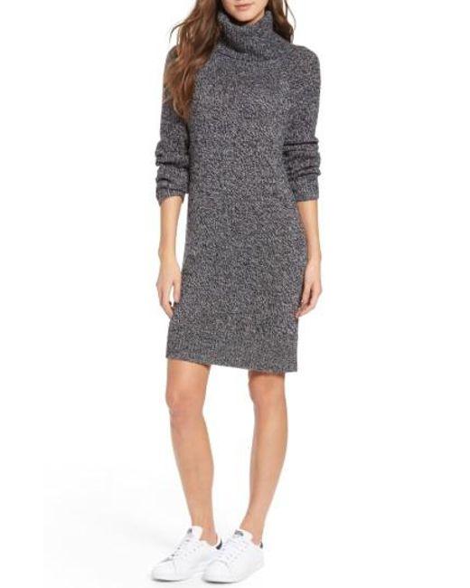 Treasure & Bond | Gray Turtleneck Sweater Dress | Lyst