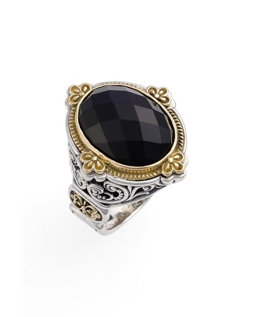 Konstantino - Multicolor 'nykta' Faceted Stone Ring - Lyst