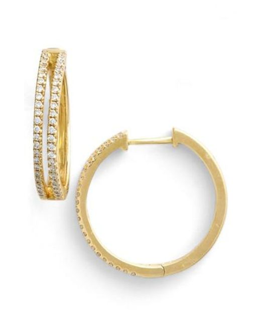 Bony Levy - Yellow Diamond Split Hoop Earrings (limited Edition) (nordstrom Exclusive) - Lyst