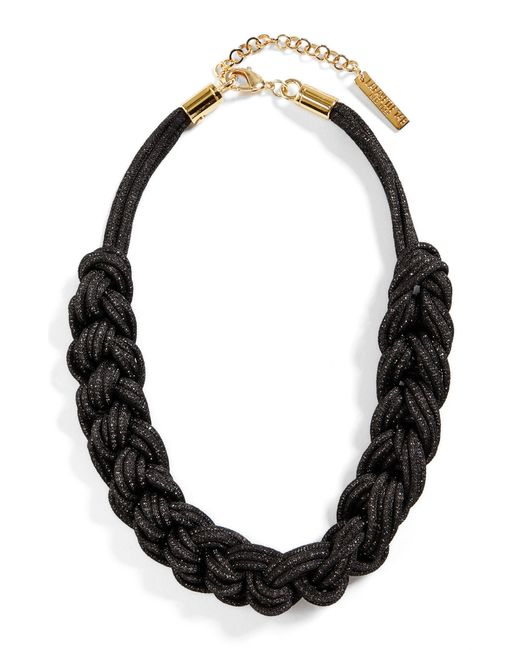 Lafayette 148 New York - Black Braided Mesh Necklace - Lyst
