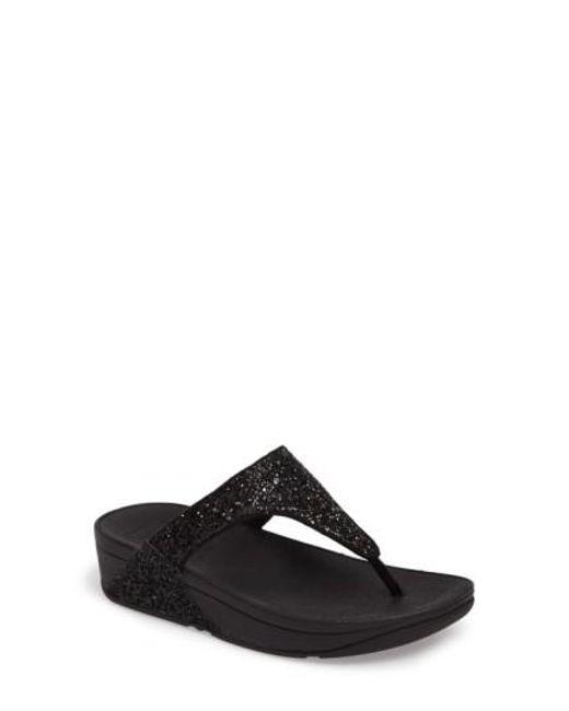 Fitflop - Black Glitterball(tm) Thong Sandal - Lyst