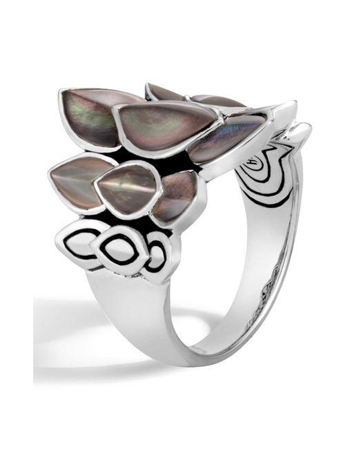 John Hardy - Metallic Sterling Silver Legends Naga Small Saddle Ring - Lyst