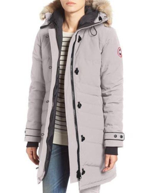 Canada Goose Carson Coyote Fur Trim Parka Graphite Men Jackets & Coats