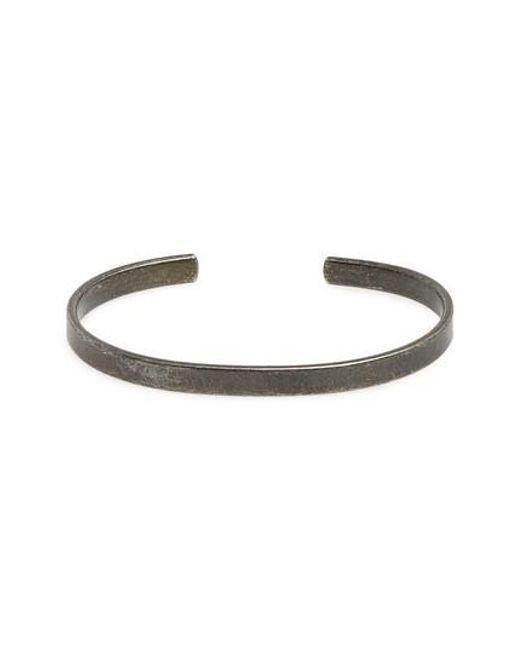 Caputo & Co. - Metallic Clean Cuff Bracelet for Men - Lyst