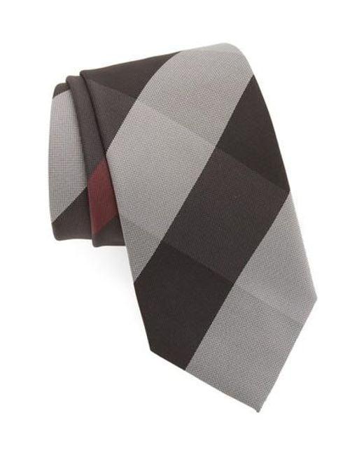 Burberry | Gray Clinton Silk Tie for Men | Lyst