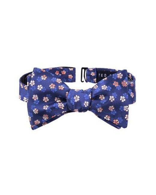 Ted Baker | Orange Floral Silk Bow Tie for Men | Lyst